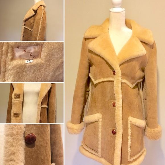a325713bdecc48 california Sheepskin coat company Jackets & Coats | Vtg Shearling By ...